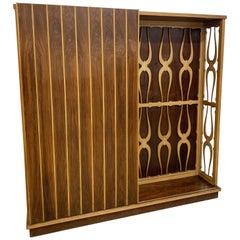 Consorzio Esposizione Mobili Cantù Maple Wood Italian Coat Rack Wardrobe, 1950s