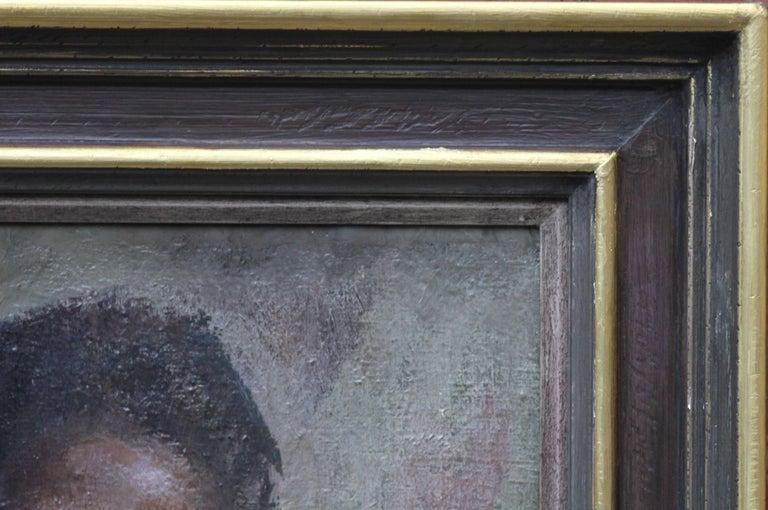 Nude - British Impressionist art 50s oil painting black nude woman female artist For Sale 4