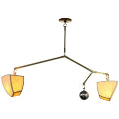 Constantin 3 AB4 Bamboo Chandelier Handmade by Andrea Claire Studio