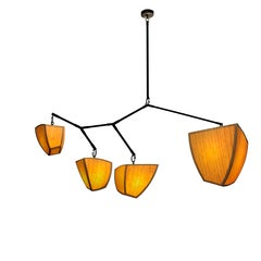Constantin 4 Mobile Chandelier in Handmade Bamboo & Brass by Andrea Claire
