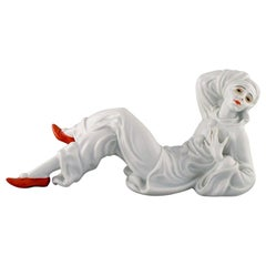 Constantin Holzer-Defanti '1881-1951', Rosenthal' Porcelain Figure of a Pierrot