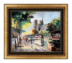 Constantin Kluge ORIGINAL Painting Oil On Canvas French Landscape Signed Artwork