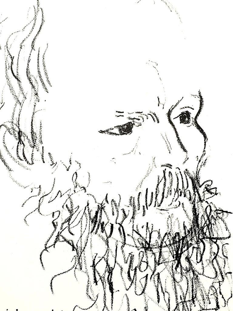Constantin Terechkovitch - Portrait - Original Lithograph For Sale 1
