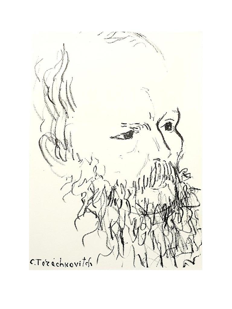 Constantin Terechkovitch - Portrait - Original Lithograph - Print by Constantin Terechkovitch