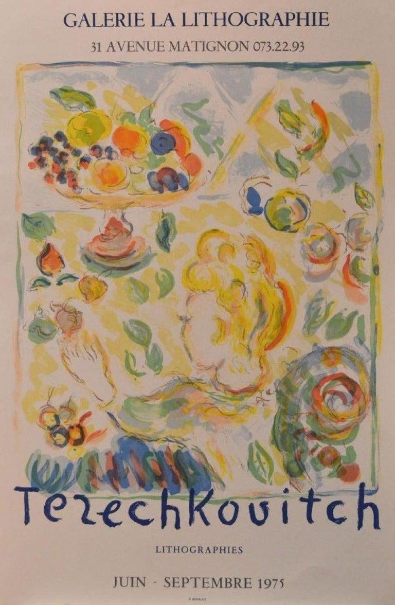 Constantin Terechkovitch Print - Galerie La Lithographie-Vintage Event Poster. Published by Mourlot