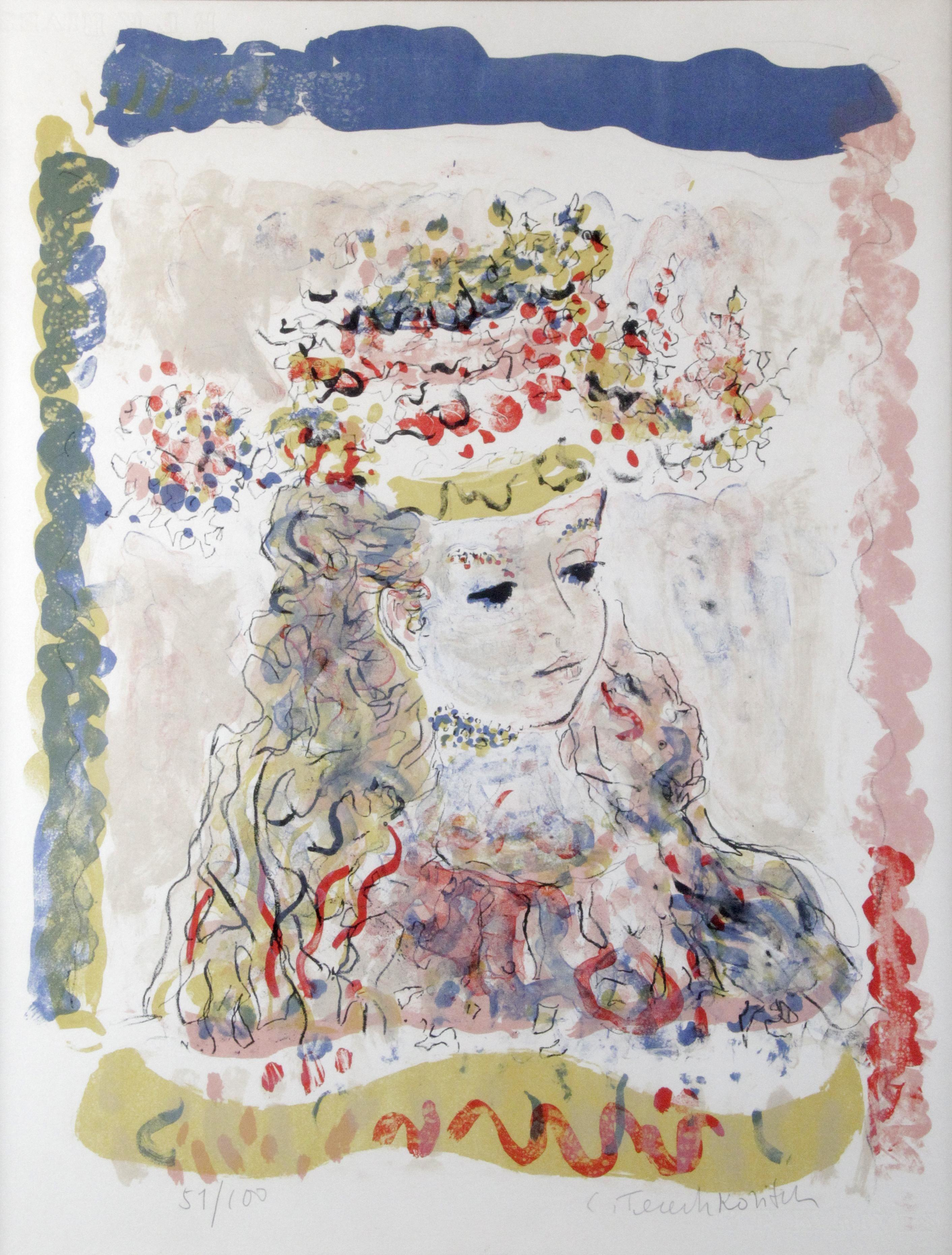Young Lady with a hat  After Constantin Terechkovitch