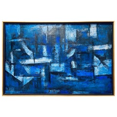 Constantine Pougialis Abstract Oil on Canvas Painting