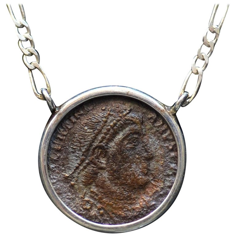 50ca41d9d Constantine the Great Coin Silver Necklace For Sale at 1stdibs