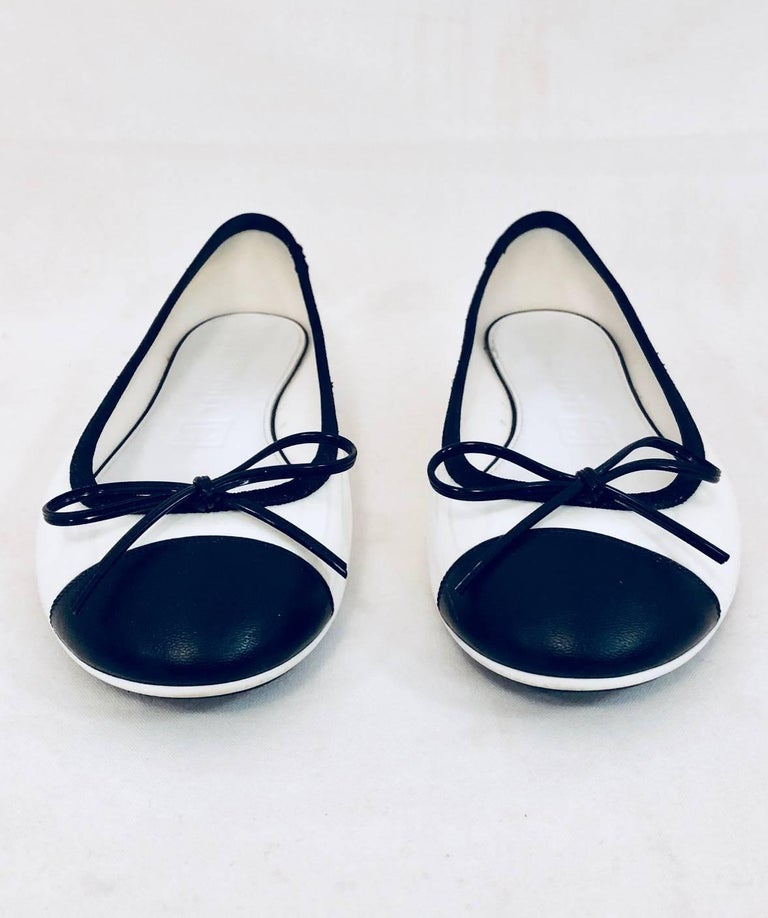 73409649162 Constantly Chanel Black and White Jelly Ballerina Flats For Sale at ...