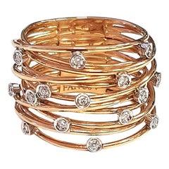 Constellation Diamond and 18 Karat Rose Gold Ring