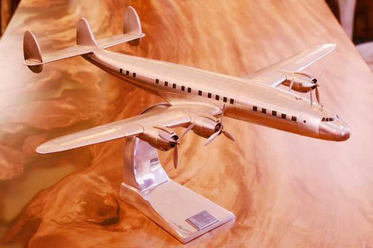 Hand-Crafted Constellation Lockheed L1049 Aircraft Model For Sale