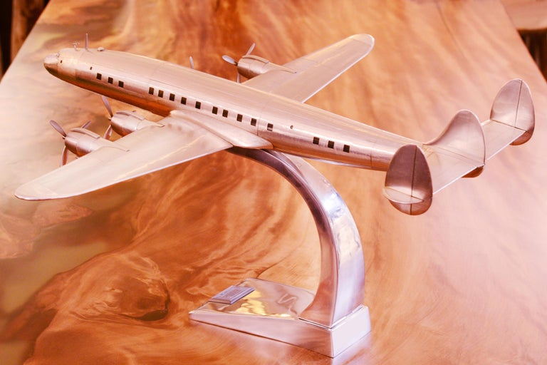 Contemporary Constellation Lockheed L1049 Aircraft Model For Sale
