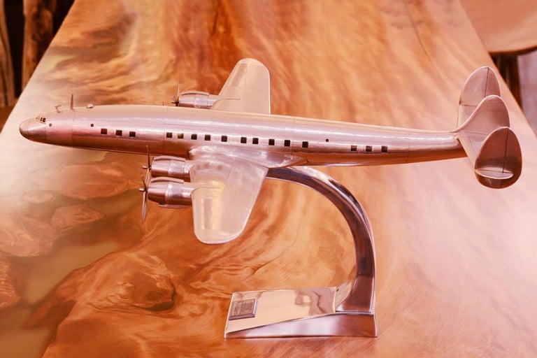 Aluminum Constellation Lockheed L1049 Aircraft Model For Sale