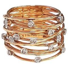Constellation Ring White Diamond and 18 Karat Rose Gold