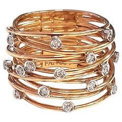 Constellation White Diamond and 18 Karat Rose Gold Ring