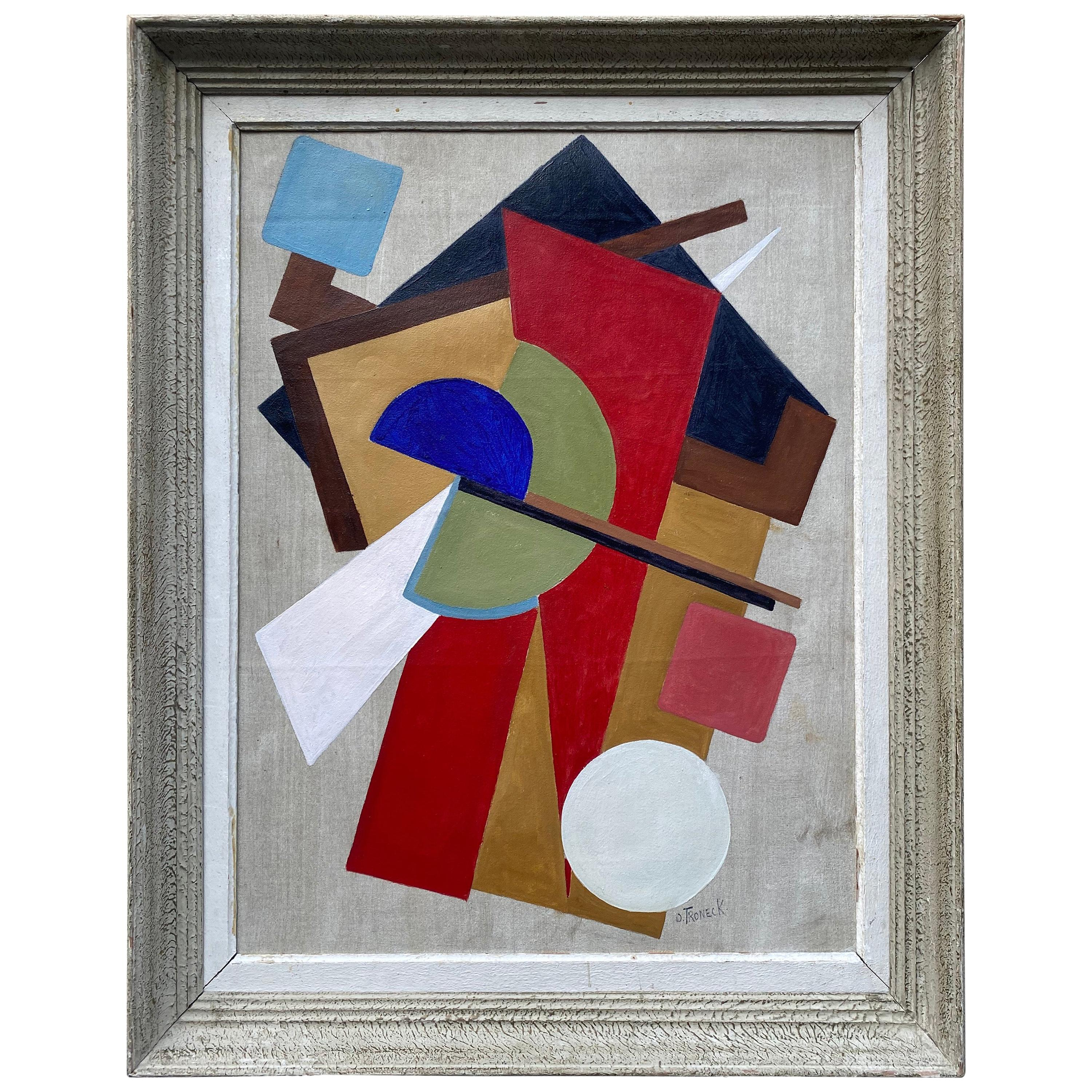 Constructivism Painting by Oscar Troneck
