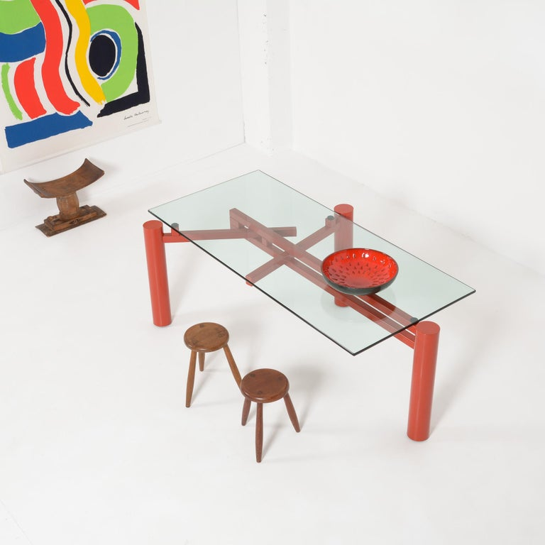 Post-Modern Constructivist Dining Table by Christophe Gevers For Sale