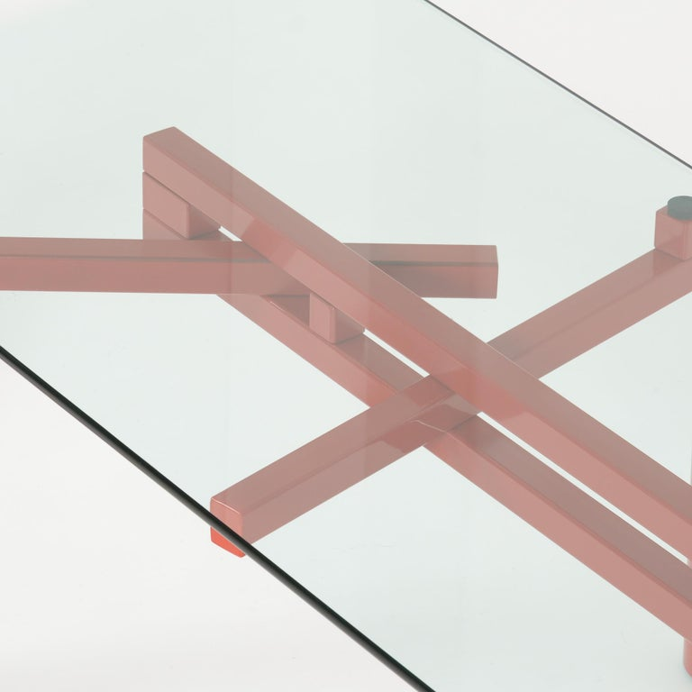 Contemporary Constructivist Dining Table by Christophe Gevers For Sale