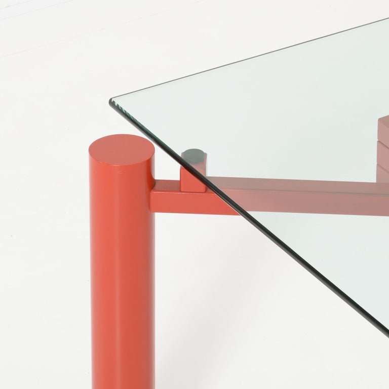 Metal Constructivist Dining Table by Christophe Gevers For Sale