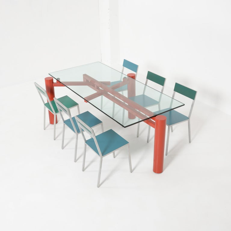 Constructivist Dining Table by Christophe Gevers For Sale 1