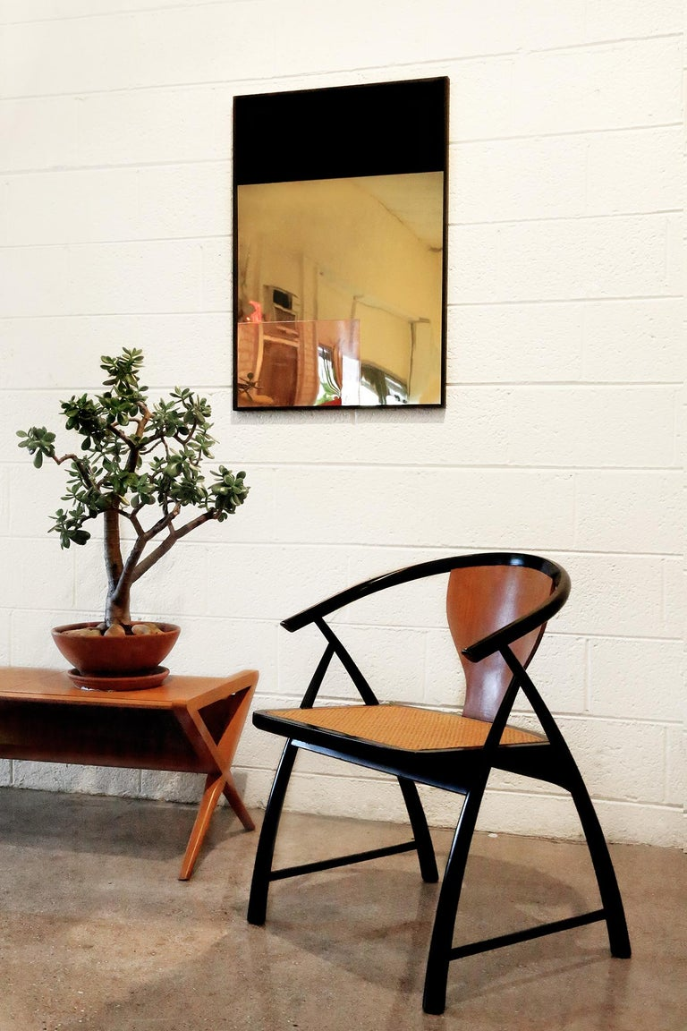 American 'Constructivist Mirror Series - Rectangle' Modern Wall Mirror in Polished Copper For Sale