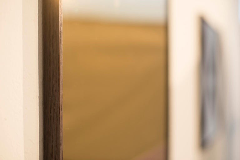 'Constructivist Mirror Series - Rectangle' Modern Wall Mirror in Polished Copper For Sale 1