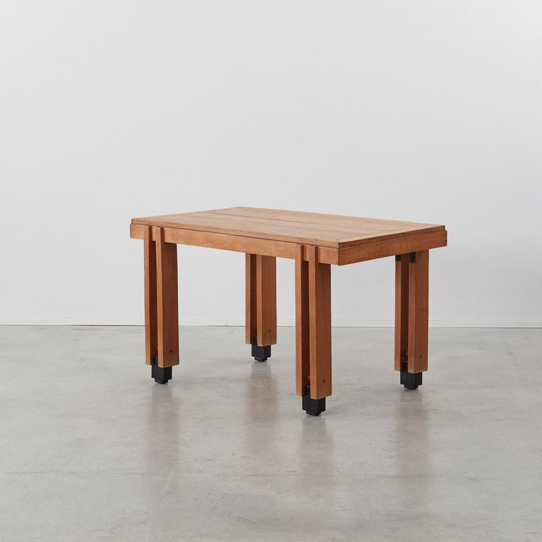 Wood Constructivist Oak Tables or Desks, Italy, 1950s For Sale