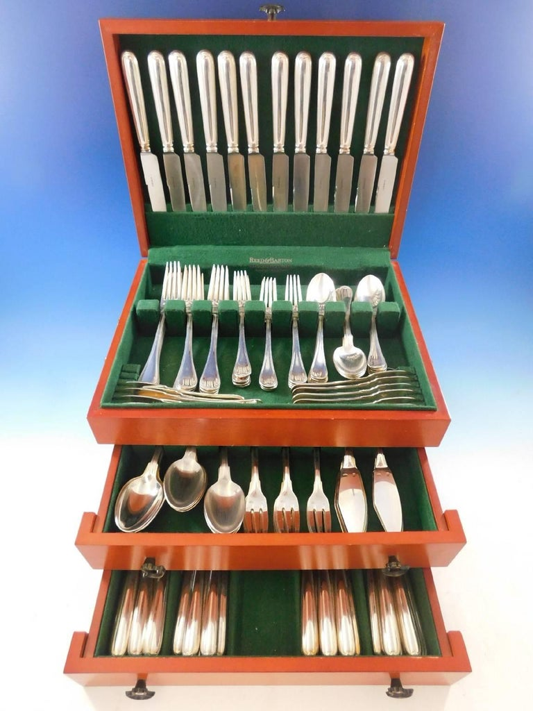 The Parisian silversmith Puiforcat is regarded as one of the legendary names in European silver craftsmanship. Inspired by cutlery designed by silversmith Franasois-Thomas Germain in the 18th century and revived by Martin-Guillaume Biennais a
