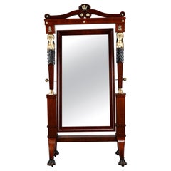 Consulat-Return From Egypt Period Cheval Floor Mirror