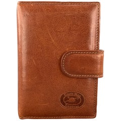CONTE MAX Tan Leather Phone Contacts Book