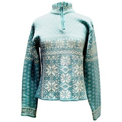 Contemorary & New Wool Snowflake Ski Sweater For Gorush By Obermeyer