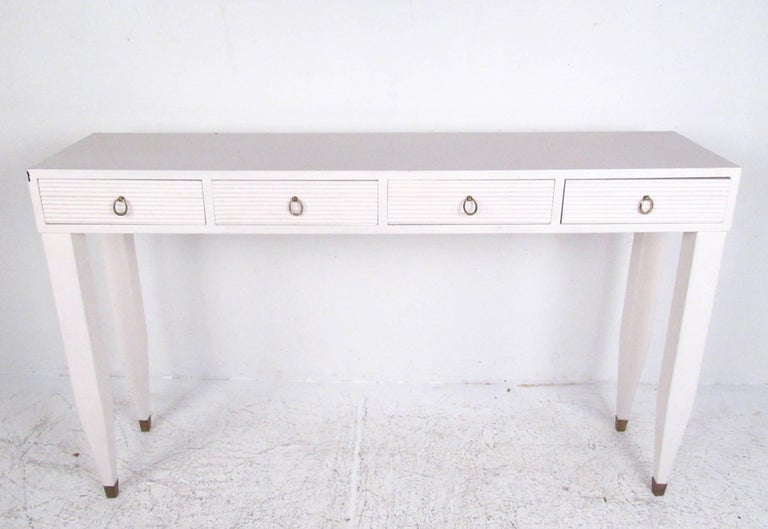 Contemporary Modern Four Drawer Console Table For At 1stdibs - Modern White Console Table With Storage