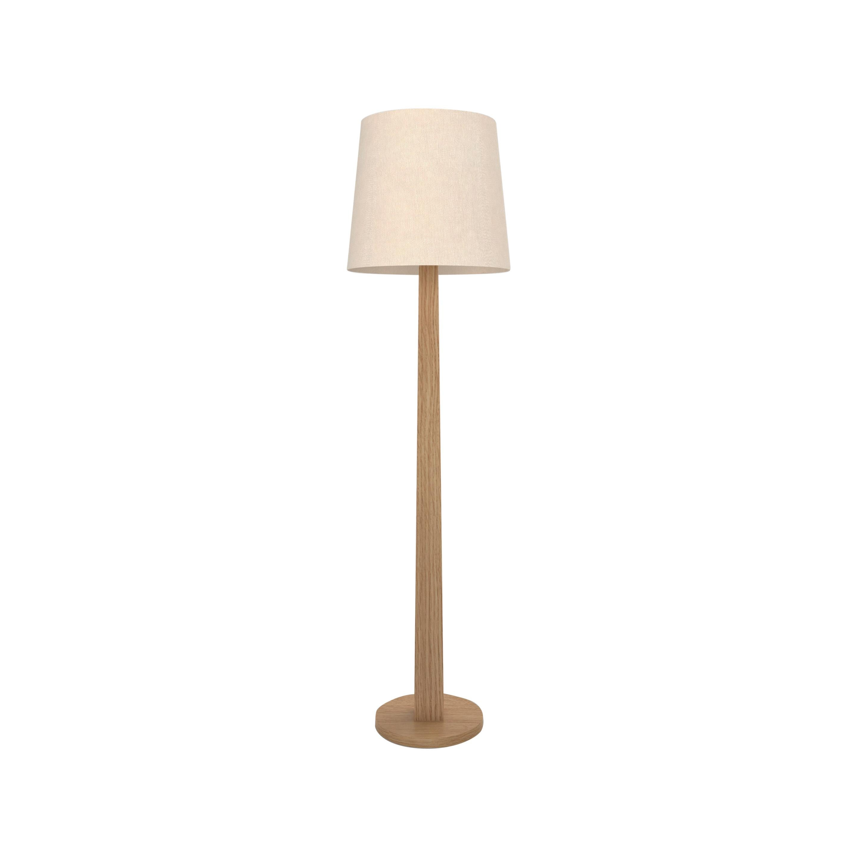 Contemporary 002 Floor Lamp in Oak by Orphan Work