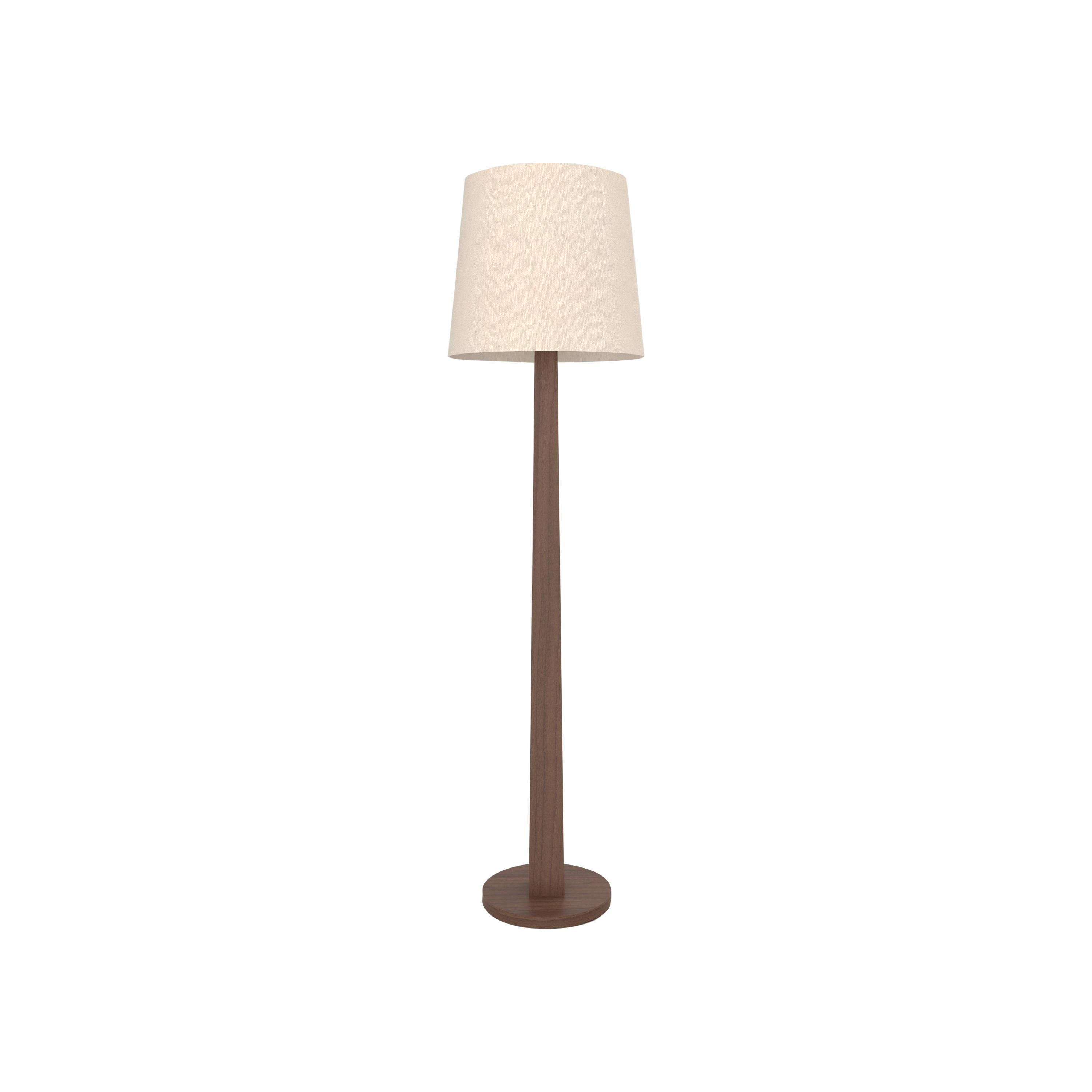 Contemporary 002 Floor Lamp in Walnut by Orphan Work