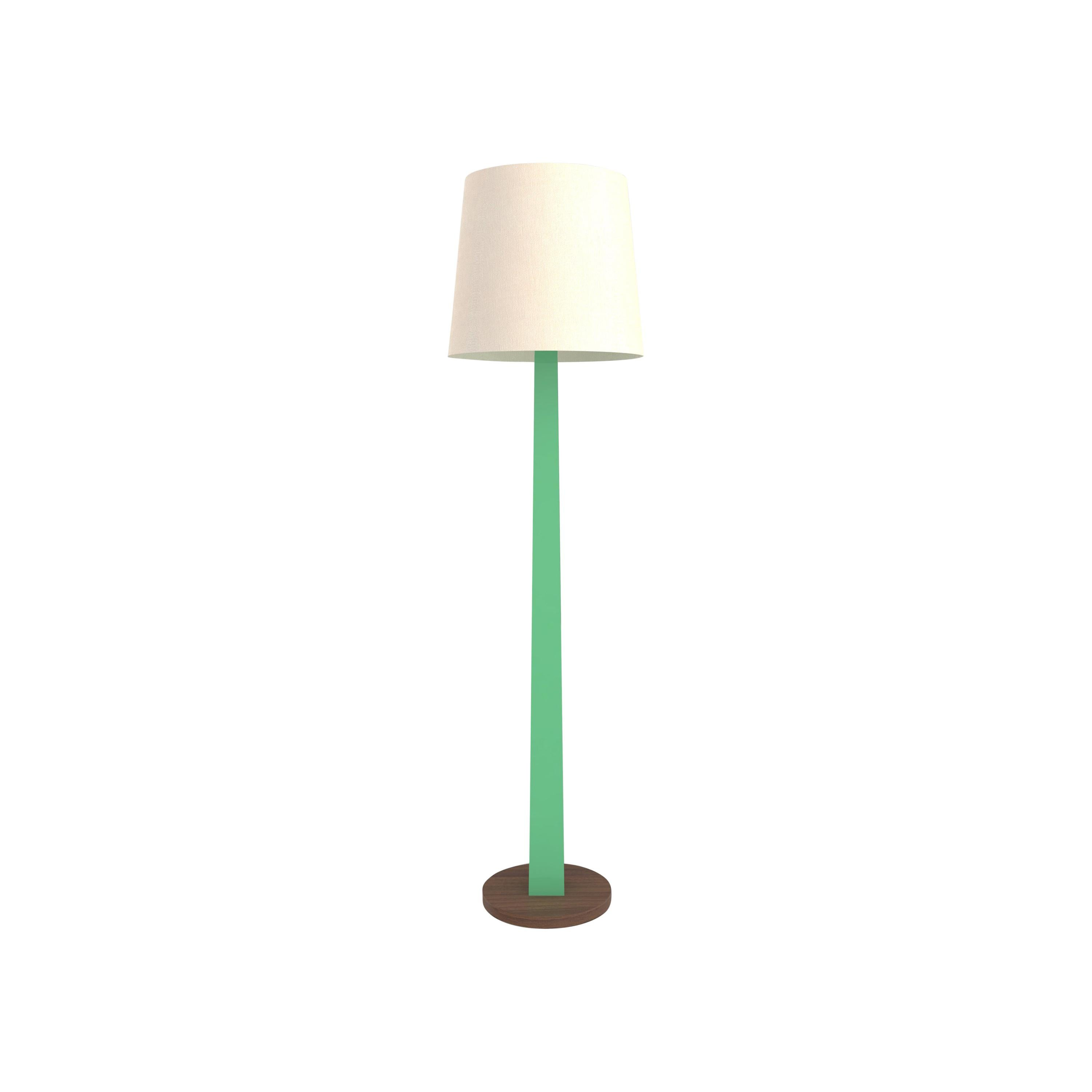 Contemporary 002C Floor Lamp in Walnut by Orphan Work