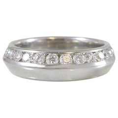 Contemporary 0.50 Carat Diamond and Platinum Ring