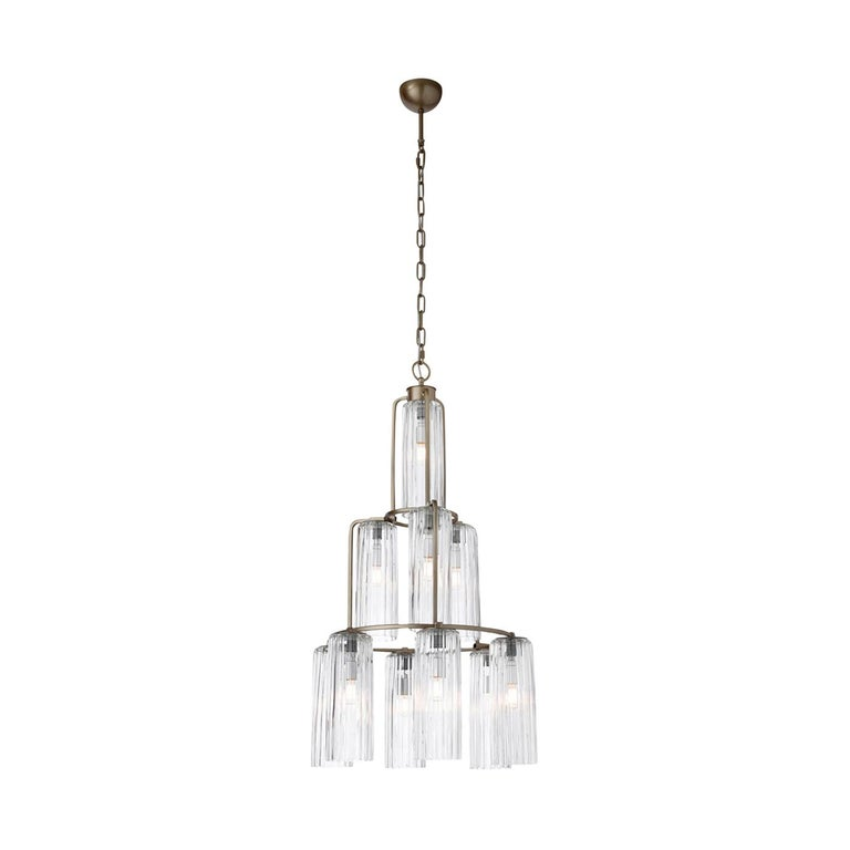 Contemporary 10 Lights Chandelier For Sale