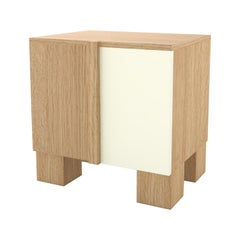 Contemporary 100 Bedside in Oak and White by Orphan Work, 2019