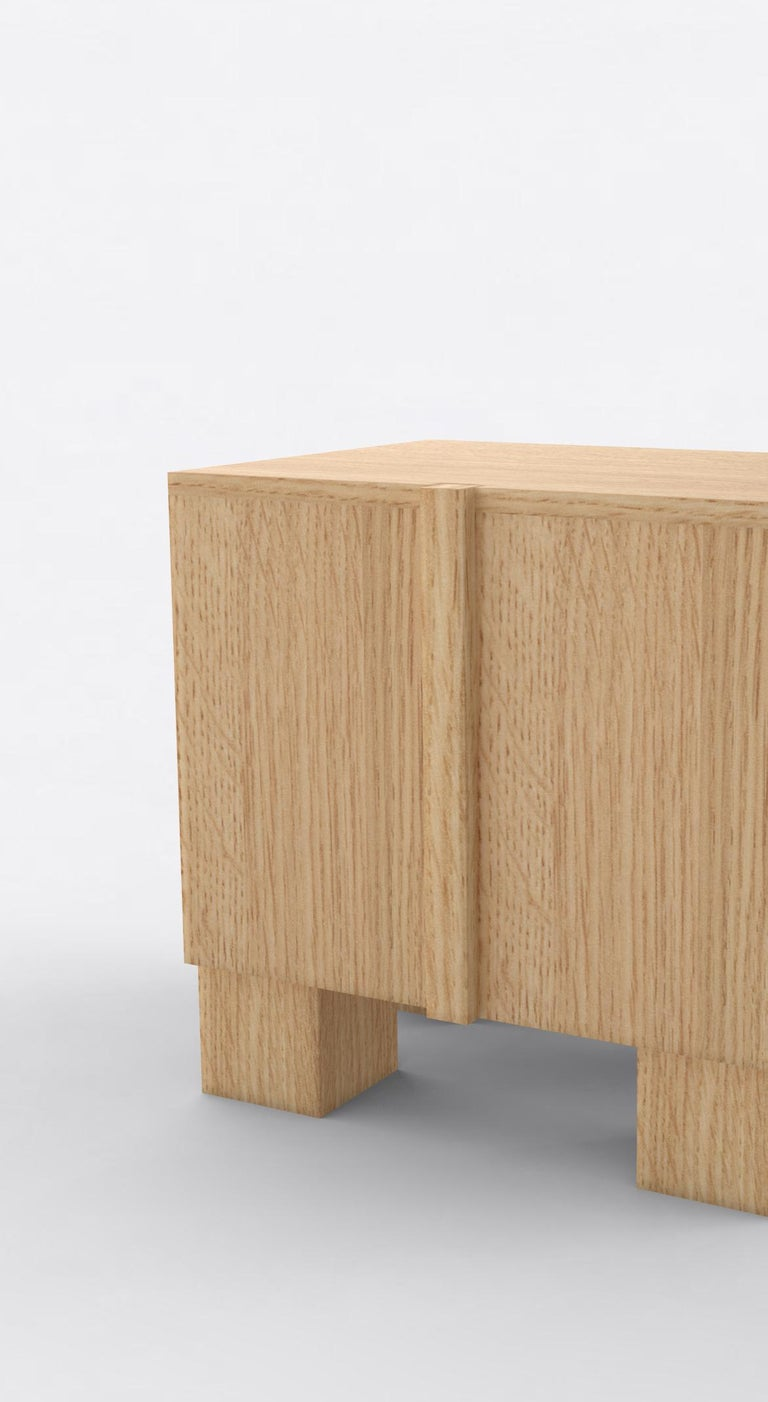 American Contemporary 100 Bedside in Oak by Orphan Work, 2019 For Sale