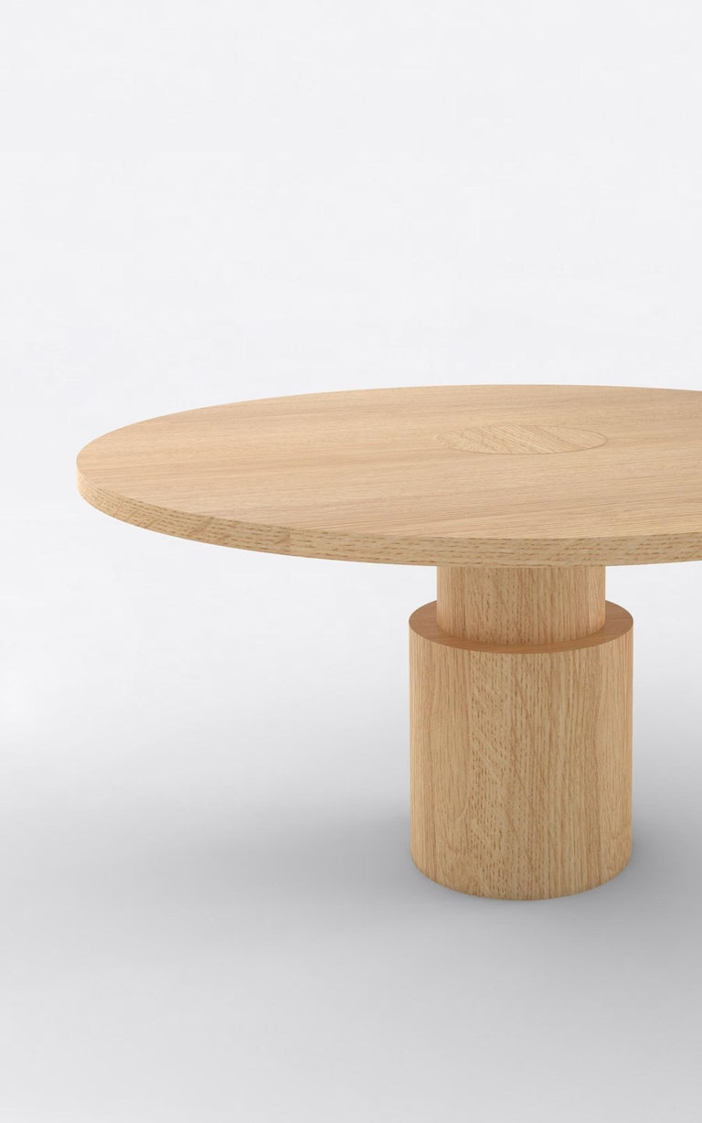 Orphan Work 100 Dining Table, 2019 Shown in oak. Available in natural oak.  Measures: 60