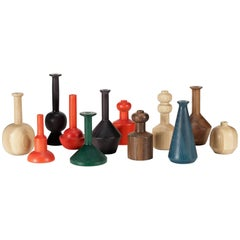 Contemporary 100xbtr Eno Vases in Solid Ash or Walnut with Various Dye-Stains