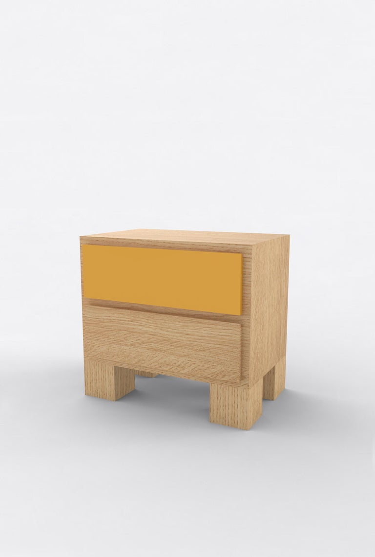 Contemporary 101 Bedside in Oak and Color by Orphan Work, 2020 In New Condition For Sale In New York, NY