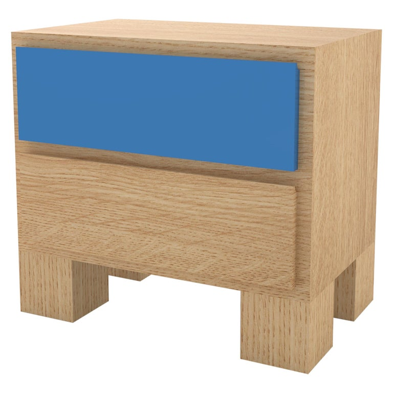 Contemporary 101 Bedside in Oak and Color by Orphan Work, 2020 For Sale