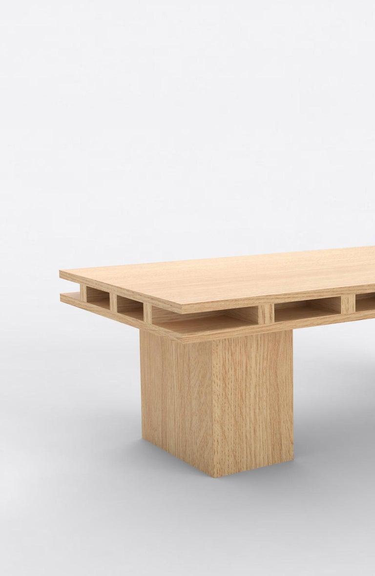 American Contemporary 101 Coffee Table in Oak by Orphan Work, 2019 For Sale
