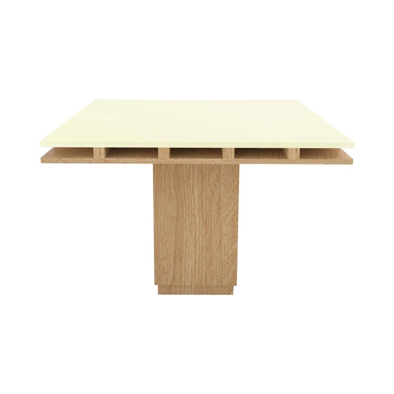 Contemporary 101 Dining Table in Oak and White by Orphan Work, 2019 For Sale