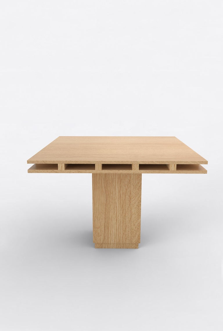 Post-Modern Contemporary 101 Dining Table in Oak by Orphan Work, 2019 For Sale