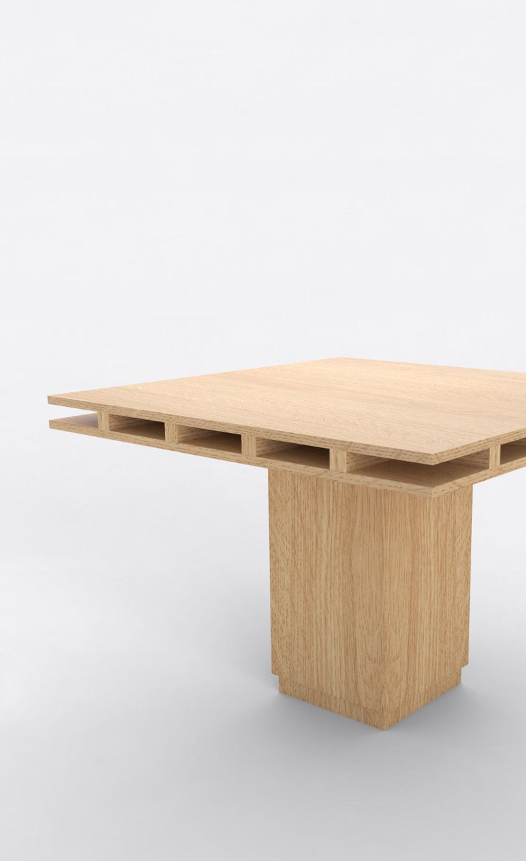 American Contemporary 101 Dining Table in Oak by Orphan Work, 2019 For Sale