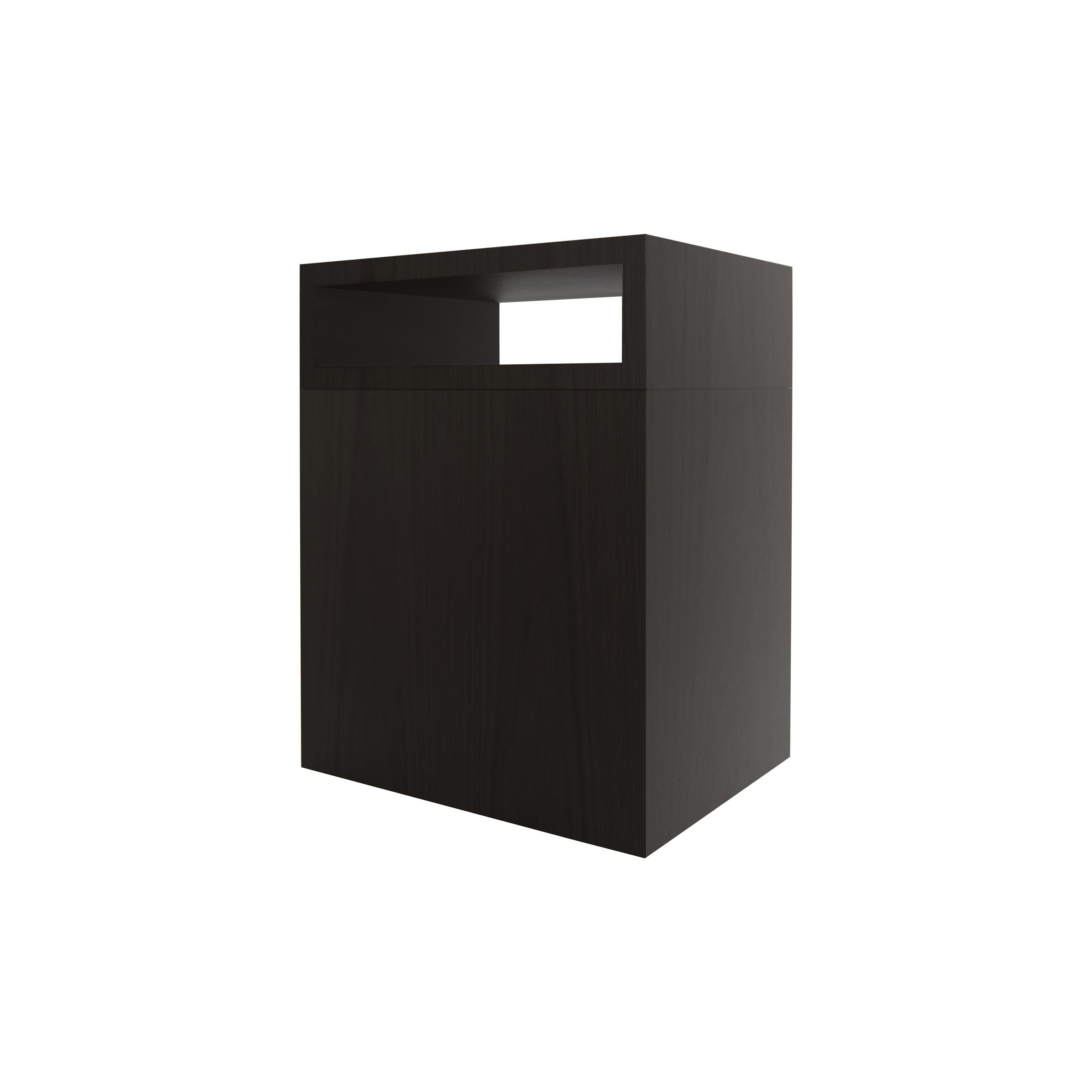 Contemporary 101 Side Table in Black by Orphan Work