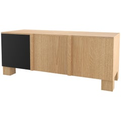 Contemporary 101 Storage in Oak and Black by Orphan Work, 2019