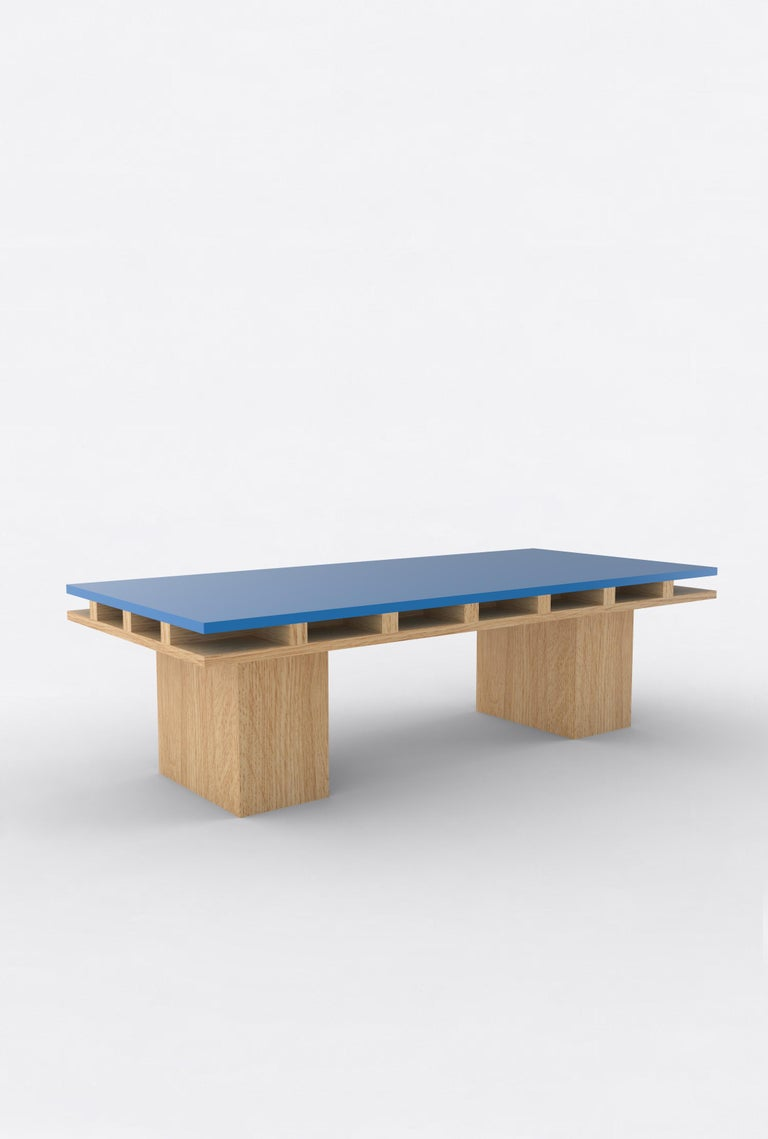Contemporary 101C Coffee Table in Oak and Color by Orphan Work, 2020 In New Condition For Sale In New York, NY